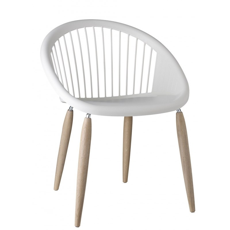 chaise design natural giulia pieds bois
