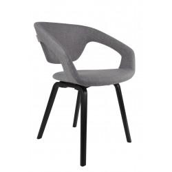 Chaises design Flex back pieds bois noirs - Zuiver