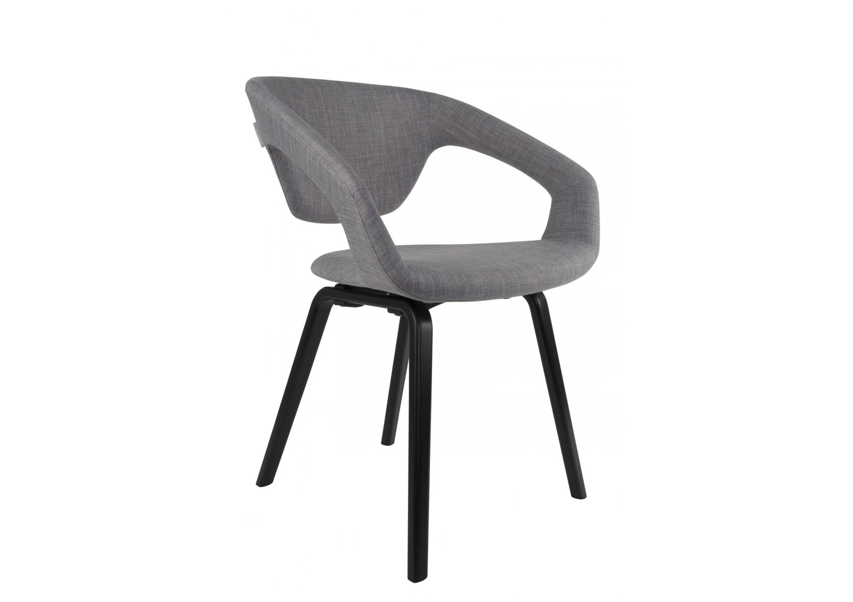 chaises tissu pieds bois scandinave flex back zuiver. Black Bedroom Furniture Sets. Home Design Ideas