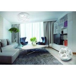 Suspension en ligne design Organica 3 lampes