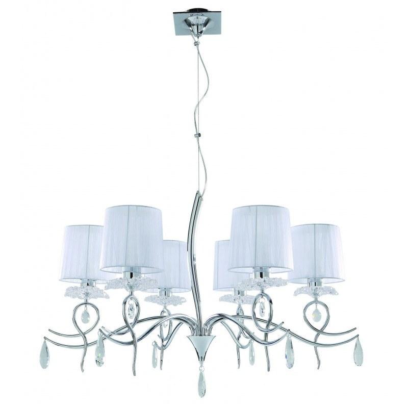 Suspension baroque six lampes Louise