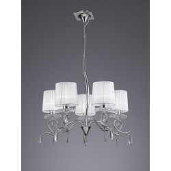 Suspension baroque six lampes Louise