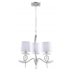 Suspension baroque 3 lampes Louise