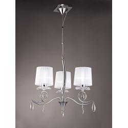 Suspension baroque 3 lampes Louise
