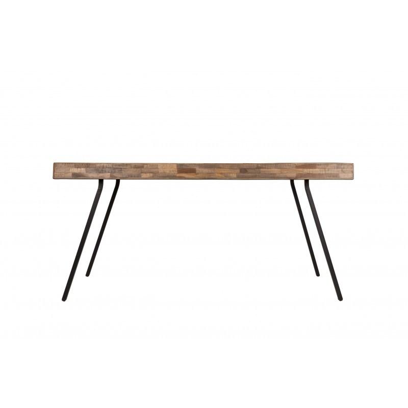 Table de repas - SURI TABLE - teck et acier