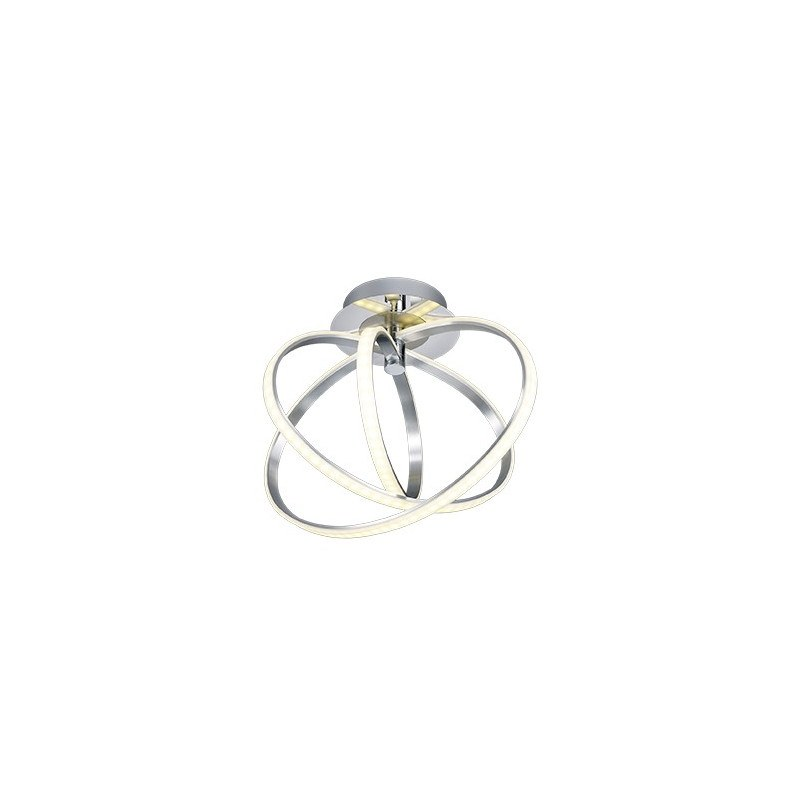 Plafonnier design chrome LED Corland