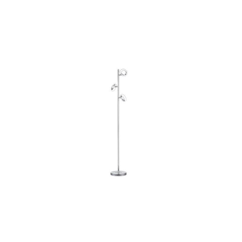Lampadaire à variateur design chrome LED Corland 3 Lampes