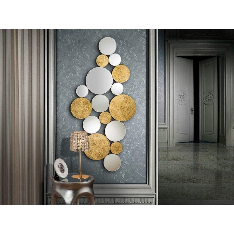 Miroir design CIRZE sphères de glaces biseautées schuller