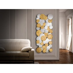 Miroir rectangulaire CIRZE design sphères de glaces biseautées schuller