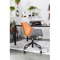 Lampe de table extensible FLEX dimmable en acier et bois d'hévéa