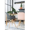 Chaises scandinave ALBERT KUIP anthracite pied bois