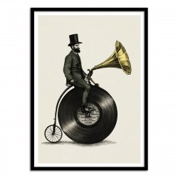 Poster Music Man Eric Fan style gravure 50 x 70 cm