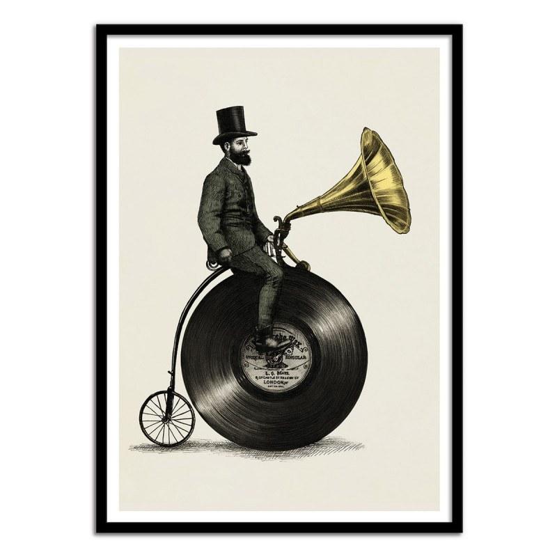 Poster Music Man Eric Fan style gravure