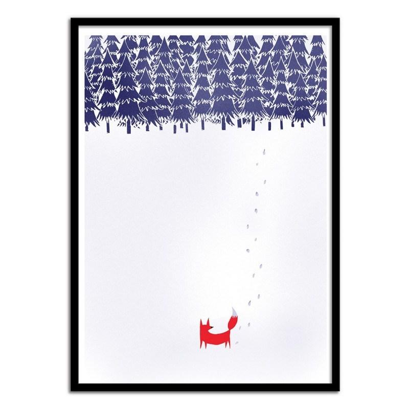 Poster Alone in the forest - Renard en Forêt par Robert Farkas