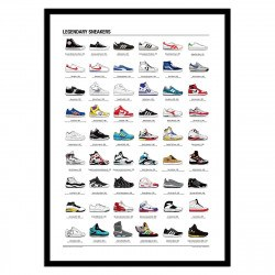 Poster chaussures mythiques Legendary Sneakers 50 x 70 cm