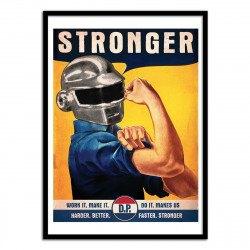 Poster Daft Punk Vintage 50 x 70 cm
