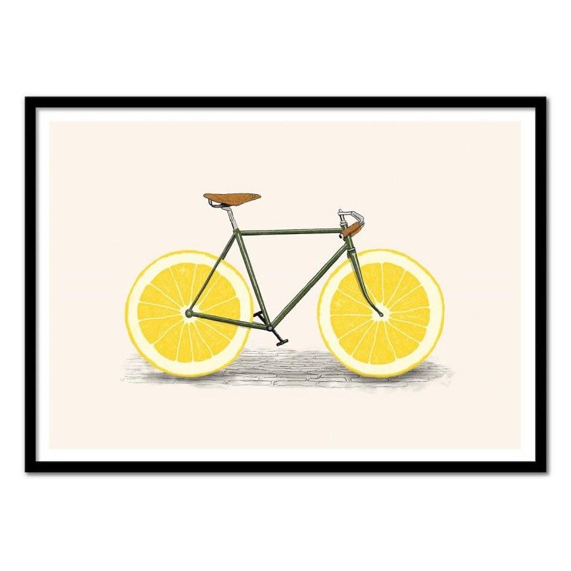 Poster Vélo citron Zest bike - Florent Bodart 50 x 70 cm