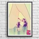 Poster femme fatale Girl with Gun Giuseppe Cristiano