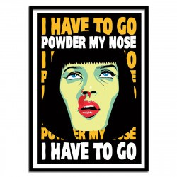 Poster Pulp fiction Mia Powder my nose Butcher Billy 50 x 70 cm