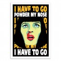 Poster Pulp fiction Mia Powder my nose Butcher Billy