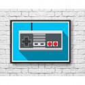Poster manette NES Retro Controller - Olivier