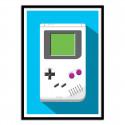 Poster Game Boy Retro Gamer - Olivier Bourdereau