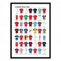Poster maillots d'équipes légendaires - Olivier Bourdereau