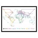 Poster Plan de métro mondial - Olivier Bourdereau