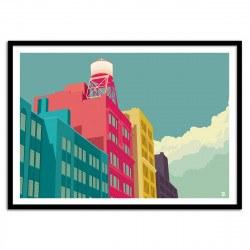 Poster toit de NewYork Street NYC Remko Heemskerk