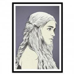Poster Daenerys mère des dragons Cranio Dsgn 50 x 70 cm