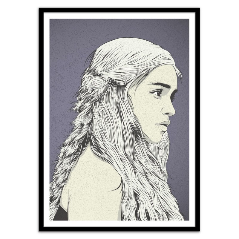 Poster Daenerys mère des dragons Cranio Dsgn