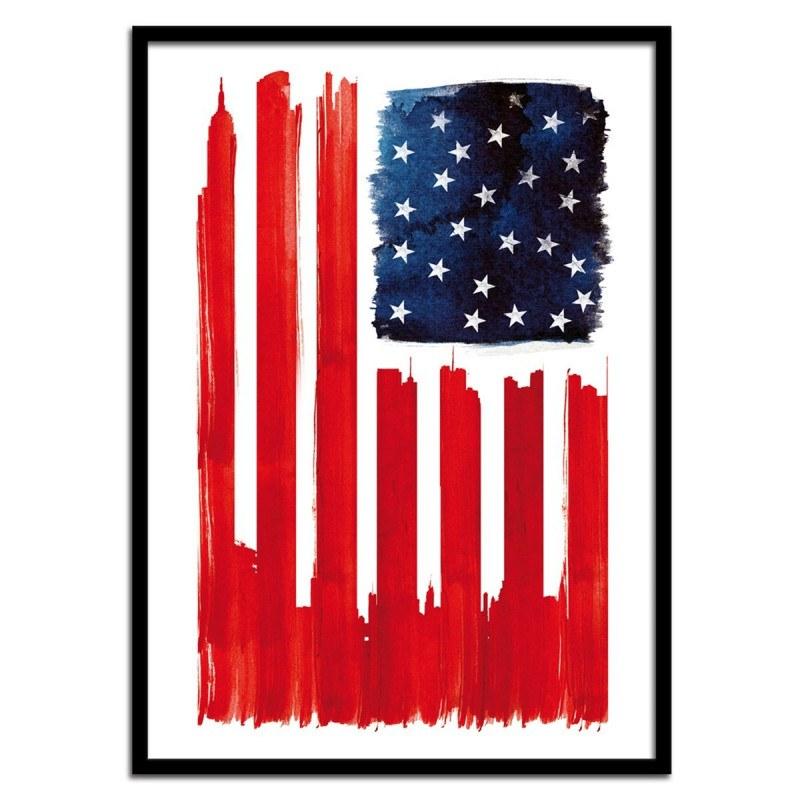 Poster USA and Buildings Robert Farkas
