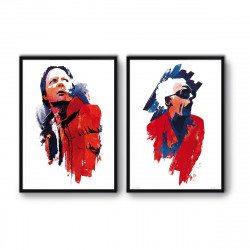 2 Affiches d'art 50 x 70 cm Retour vers le Futur
