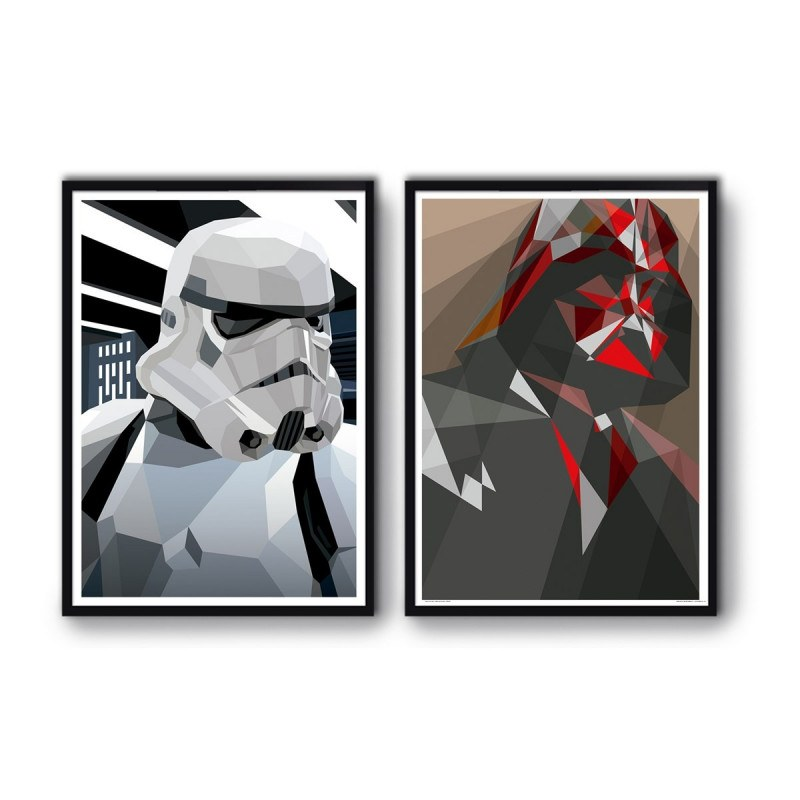 2 Affiches d'art 50 x 70 cm Star Wars