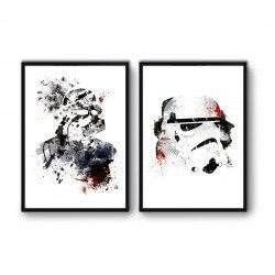 2 Affiches d'art 50 x 70 cm Vador et Storm Trooper