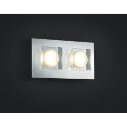 Double Applique BROOKLYN Chrome et verre LED