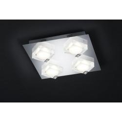 Plafonnier BROOKLYN Chrome et verre LED