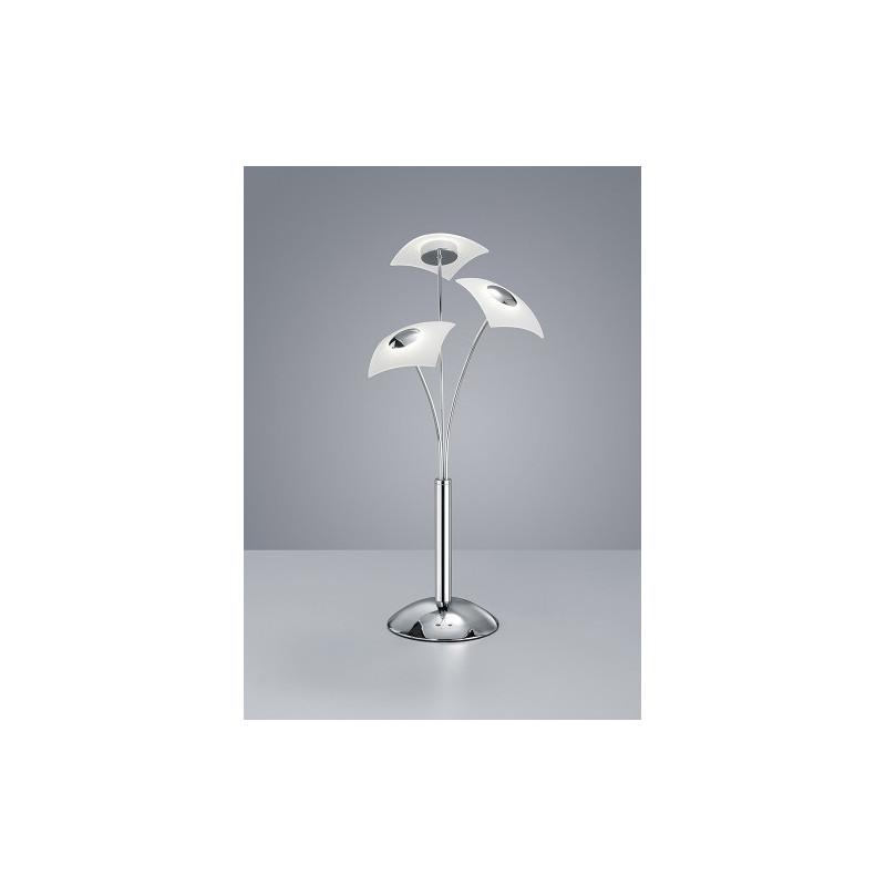 Lampe à poser design Coronas Chrome et Verre satiné 3L