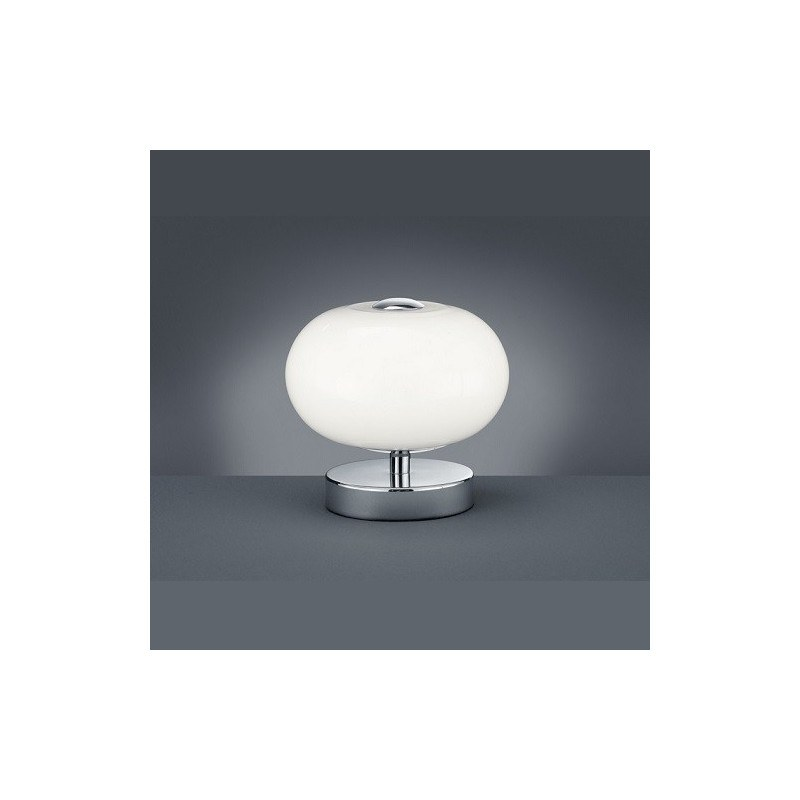 Lampe à poser design Big Apple Chrome et Verre