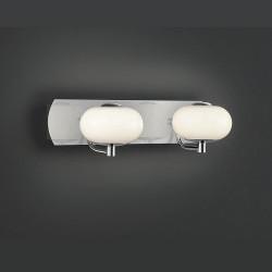 Double applique design Big Apple chrome et verre