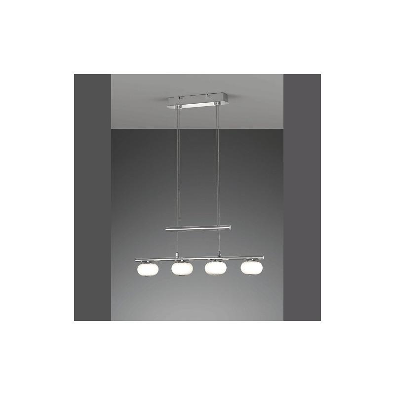 Suspension 4L design Big Apple chrome et verre