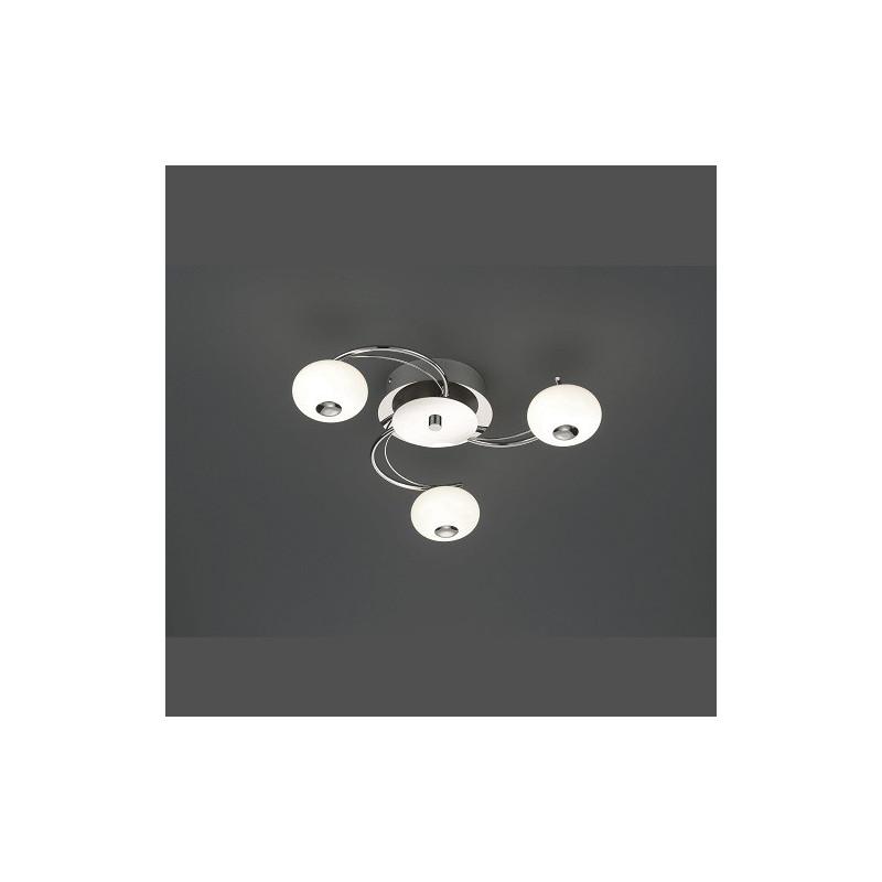 Plafonnier 3L design Big Apple chrome et verre