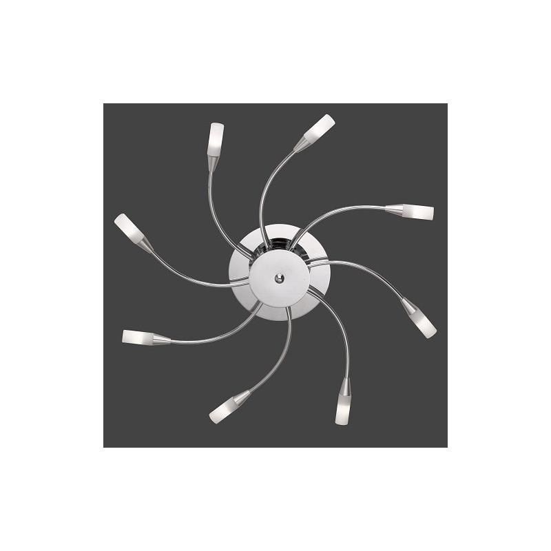Plafonnier design Umbrella 8L Chrome et Verre mat