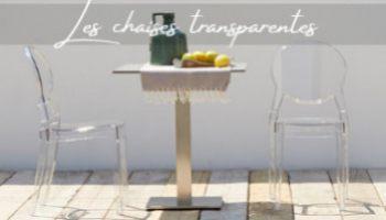 Chaise transparente - mobilier déco pour particulier et professionnel